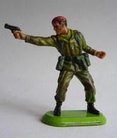 FIGURINE BRITAINS SUPER DETAIL SOUS OFFICIER PARACHUTISTE REVOLVER 1978 - SOLDAT WWII - Militaires