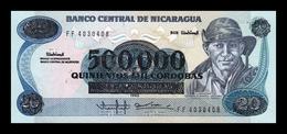 Nicaragua 500000 Córdobas German Pomares Ordoñez 1985 (1990) Pick 163 SC UNC - Nicaragua