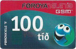 Faroe - Smiling Face, 100Kr. GSM Refill, Exp. 01.07.2006, Used - Faroe Islands