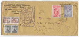 PHILIPPINES - 1950 - ENVELOPPE GF De SERVICE  RECOMMANDEE Par AVION  Avec FDC De MANILA => ROXBURY (USA) - Philippines