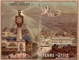PUB LU - LEFEVRE UTILE - Calendrier , Chromo - Phare 1904 Complet 1er Semestre - Calendriers