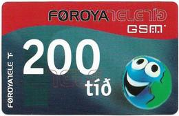 Faroe - Smiling Face, 200Kr. GSM Refill, Exp. 01.02.2005, Used - Faeroër