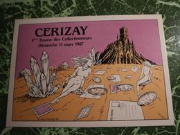 1carte Postale CERIZAY 3e Bourse Des Collectionneurs 1987 - Veyri, Bernard