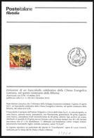 Italia/Italie/Italy: Bollettino Informativo Delle Poste, Chiesa Evangelica Luterana, Lutheran Evangelical Church, Église - Cristianesimo
