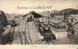 D56  LORIENT  La Gare  J'Arrive à Lorient ............ Avec Train En Gare - Lorient