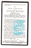 DP Joseph Bovijn Bovyn ° Waarschoot 1878 † Gent 1926 X Marie De Wever - Images Religieuses