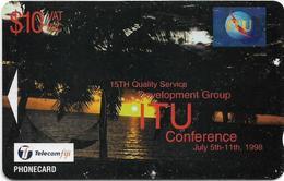 Fiji - Tel. Fiji - ITU Conference - Black Card - BCFJD - 1998, 10$, 1.000ex, Used - Fidji