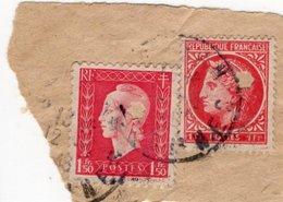 Perfins,2 Timbres Perforés Sur Papier,étoile à 6 Branches D'origine Inconnue - France