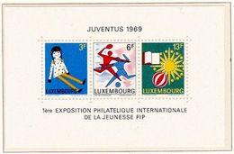 Luxembourg 1969: JUVENTUS (FIP) Oeuvres D'enfants (poupée & Sports) - Michel 785-787 = Block 8 ** Postfrisch MNH - Poupées
