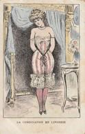 L'habit Féminin ( Dans Le Genre Xavier SAGER). La Combinaison En Lingerie. - Illustratori & Fotografie