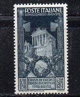 XP1674 - REGNO 1937 , 2.55+2 Lira Sassone N. 425  *  Linguella . Bimillenario Augusto - Mint/hinged