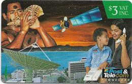 Fiji - Tel. Fiji - FPTL Corporate Phonecards - Mother & Child - 13FIB (Crossed Ø), 1995, 3$, Used - Fiji