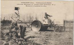 CPA   TRACTEUR   LIANCOURT  TRACTEUR TREUIL EN BOUT DE SILLON - Tracteurs