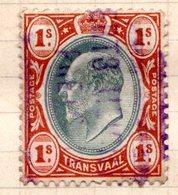 TRANSVAAL - (Administration Britannique) - 1902-03 - N° 156 - 1 S. Brun-orange Et Ardoise - (Edouard VII) - Südafrika (...-1961)