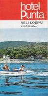 Veli Losinj Croatia Hotel Punta Old Guide Prospect Brochure Depliant - Tourism Brochures