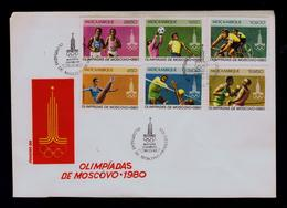 Mozambique Maputo City Sports Moscow Olympics Games 1980 Cyclisme Boxe Football Gymnastic Volley-ball Atletics Sp6485A - Wielrennen
