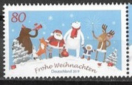 GERMANY, 2019,  MNH, CHRISTMAS, SANTA, POLAR BEARS, REINDEER, FOXES, 1v - Christmas