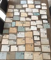 Lot 67 Lettres Enveloppes Cachet Postal Marque Marcophilie Timbre Type Sage - Poststempel (Briefe)
