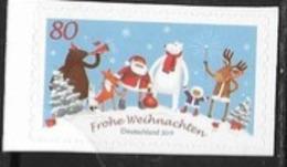 GERMANY, 2019,  MNH, CHRISTMAS, SANTA, POLAR BEARS, REINDEER, FOXES, 1v SA Ex. BOOKLET - Christmas