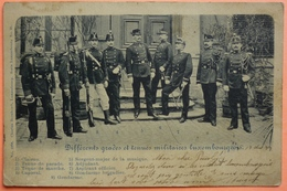 CARTE DIFFERENTS GRADES ET TENUES MILITAIRES LUXEMBOURGEOISES - LUXEMBOURG - MILITARIA -SCAN RECTO/VERSO-13 - Cartes Postales