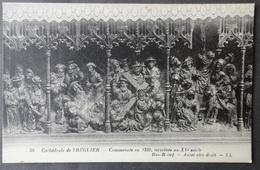 CPA 22 TREGUIER - Cathédrale - Bas Relief - Autel Côté Droit - Ref. W 181 - Tréguier