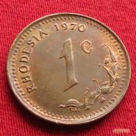 Rhodesia 1 Cent 1970 KM# 10  Rodesia Rhodesie - Rhodésie