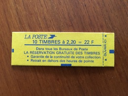 CARNET LIBERTÉ Y&T 2376-C11 - Neuf, Non Ouvert ** - Usage Courant
