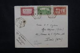 ALGÉRIE - Enveloppe De Fort Polignac Pour Paris En 1939, Affranchissement Plaisant - L 53079 - Lettres & Documents