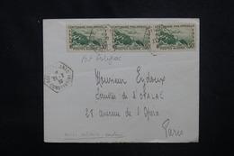 ALGÉRIE - Enveloppe De Fort Polignac Pour Paris En 1939, Affranchissement Plaisant - L 53080 - Covers & Documents