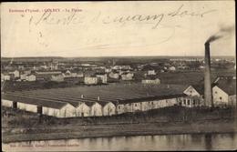 Cp Golbey Lothringen Vosges, La Plaine, Lagerhallen, Blick Auf Den Ort - Autres Communes