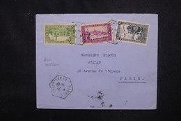 ALGÉRIE - Enveloppe De Djanet Pour Paris En 1939 ,affranchissement Plaisant - L 53084 - Lettres & Documents