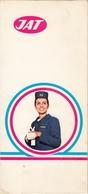 JAT Yugoslav Airlines Pasenger Informations Form Envelope Stewardess - Articles De Papeterie