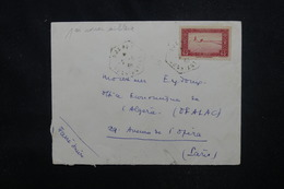 ALGÉRIE - Enveloppe De Djanet Pour Paris En 1938 ,affranchissement Plaisant - L 53085 - Lettres & Documents