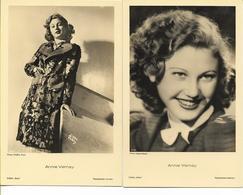 Annie VERNAY   Actrice   2 Cartes : édition ROSS  Photo D'Ora Paris Et Intran-studio - Attori
