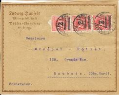 Deutschland Reich 1923 - Lettre Ludwig Hupfeld, Pianos Leipzig, à Maison Screpel-Pollet, Roubaix - Germany