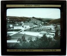 GATTIKON - SIHLTAL - SUISSE - Plaques De Verre