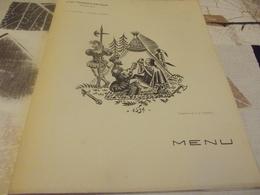 Menu Compagnie Generale Transatlantique Paquebot Colombie 1934 4 E Centenaire Jacques Cartier - Menus