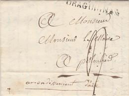 Lettre Entête Maire  SALERNES Var 5/7/1819 Marque Postale DRAGUIGNAN à Maire Pelloubier ( Puyloubier ) Bouches Du Rhône - Marcophilie (Lettres)