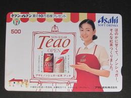 """JAPAN"" GIFT CARD / PREPAID CARD - SEVEN ELEVEN ASAHI TEAO - Gift Cards"