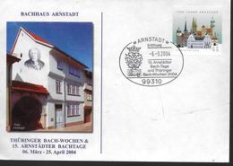 ALLEMAGNE  Lettre 2004 Arnstadt Bach Musique - Musica