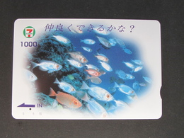 """""""JAPAN"""" GIFT CARD / PREPAID CARD - SEVEN ELEVEN FISH - Gift Cards"""