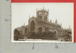CARTOLINA NV REGNO UNITO - WIGAN - Parish Church - 9 X 14 - Inghilterra