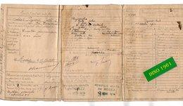 VP16.882 - MILITARIA - RODEZ 1914 - Certificat De Visite - Soldat E. PAJARD De COULOMMIERS Au 36 è Rgt Tal D'Infanterie - Documents