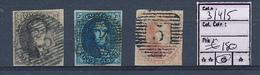 BELGIUM  COB 3/4/5 USED NICE STAMPS - 1849-1850 Medallions (3/5)