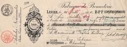 FABRIQUE DE BONNETERIE - CHALES - GILETS DE CHASSE - VAREUSES - VEUVE HONOREZ-CARLIER - LEUZE - 1911 - Lettres De Change