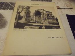 Menu Compagnie Generale Transatlantique Paquebot Colombie 1934 St Remy Les Antiques (petites Pliures Coins) - Menus