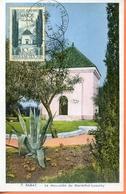 """Maroc;FDC 1er Jour; 1948,TP PA N°67; Carte Maximum """" Mausolée Du Maréchal Lyautey ; Rabat """",Morocco,Marruecos - Briefe U. Dokumente"""