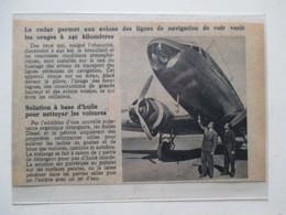 RADAR D'Avion De Ligne    -  Coupure De Presse De 1948 - GPS/Aviación