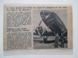 RADAR D'Avion De Ligne    -  Coupure De Presse De 1948 - GPS/Radios