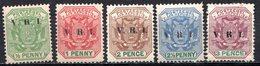 TRANSVAAL - (Occupation Anglaise Pendant La 2è Guerre Anglo-boër) - 1900 - N° 124 à 128 - (Lot De 5 Valeurs Différentes) - South Africa (...-1961)